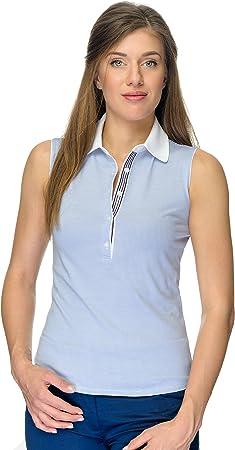 JELFY Evelina/A Polo Golf Mujer Sin Mangas 100% Algodón Pima ...