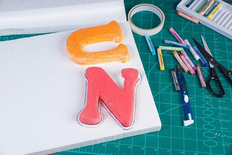 6-pack Craft Foam Block rettangolo in polistirene espanso Brick Styrofoam Block confezione 12 x 6 x 1 inches