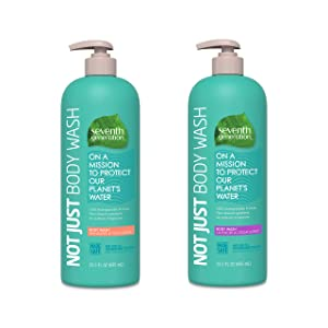 Seventh Generation Body Wash Variety Pack, Mandarin and Yuzu scent and Lavender and Cedarwood scent, 23.5 oz, 2pk