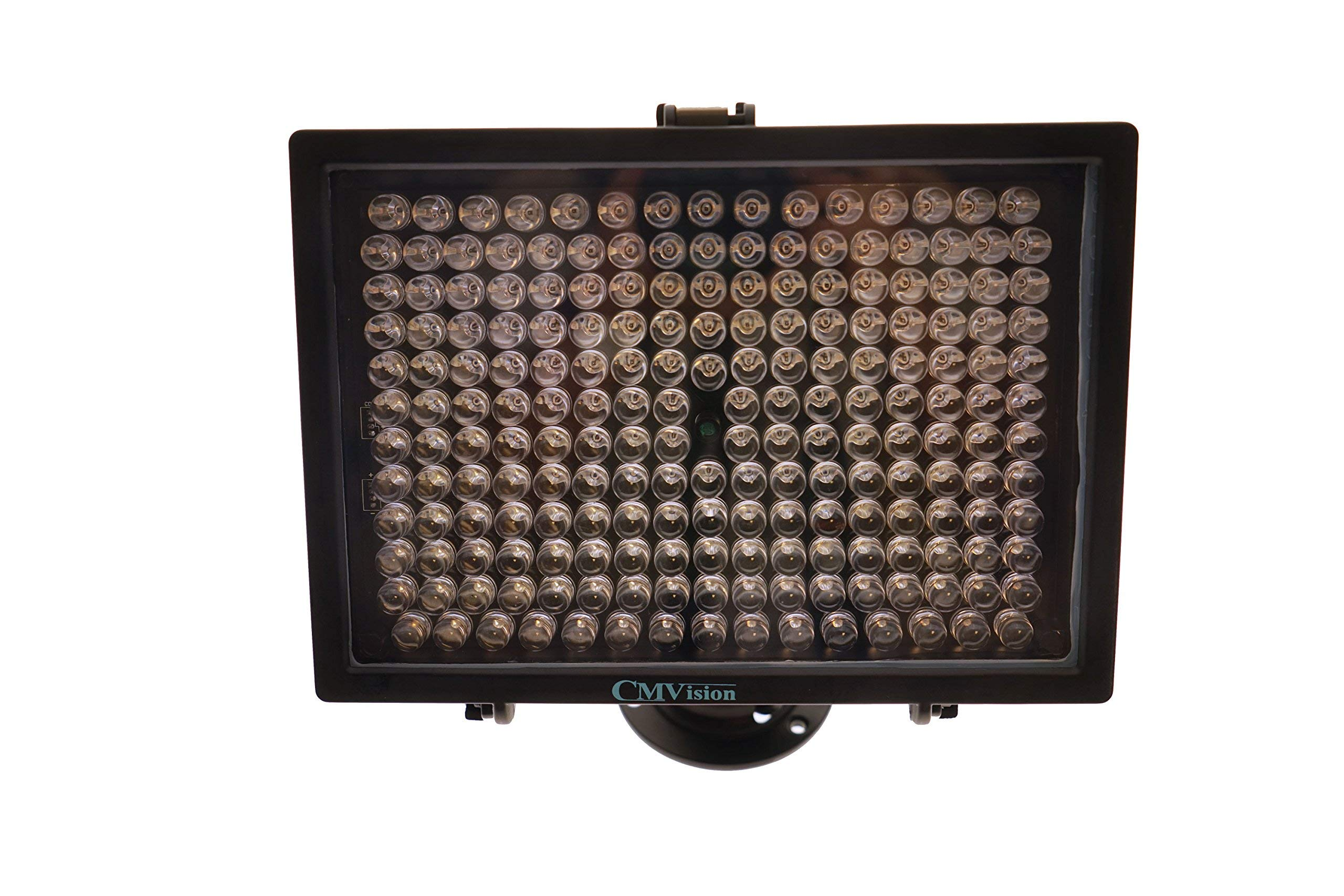 CMVision-IR200-198 (850nm) IR LED Night Indoor/Outdoor Long Range 300ft IR Illuminator w/FREE 12V Power Adapter (Up & Down Position Adjustment only) (Renewed) by CMVision