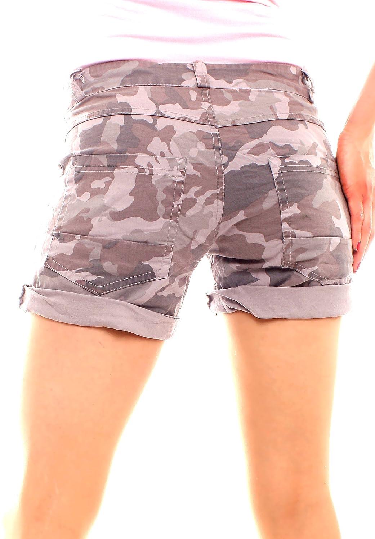 Easy Young Fashion Damen Boyfriend Shorts Camouflage: Amazon.de: Bekleidung