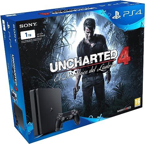 PlayStation 4 Slim (PS4) 1TB - Consola + Uncharted 4: Amazon.es: Videojuegos
