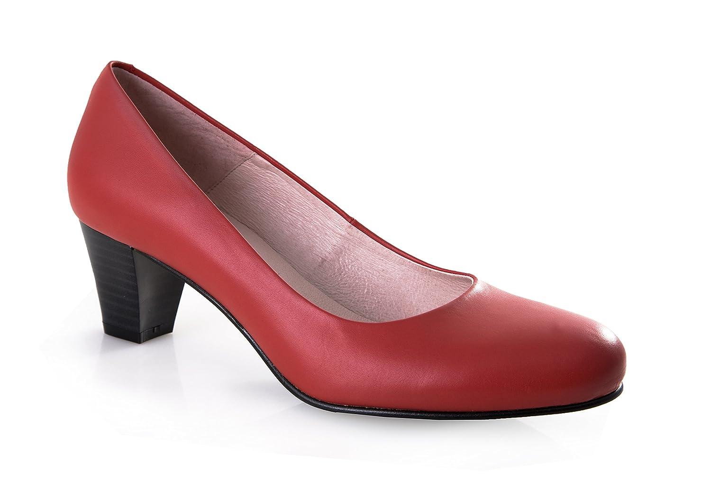 zeddea Bienvenida Rojo - zapatos de tacón cómodos para mujer 42 EU