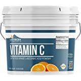 Vitamin C Powder (L-Ascorbic Acid) (1 Gallon (8 lb.)) by Earthborn Elements, Resealable Bucket, Antioxidant, Boost…