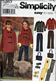 Simplicity 5863 Pattern. Child's and