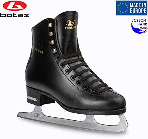 Botas – Model David Made in Europe Czech Republic Figure Ice Skates for Men, Boys Sabrina Blades Black Color
