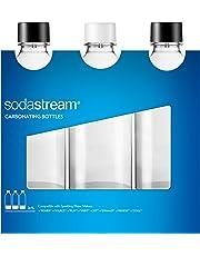 SodaStream 3 Bottiglie Universali per gasatore d'acqua, Capienza 1 Litro, Compatibili con modelli SodaStream Jet, Spirit, Source, Power, Play