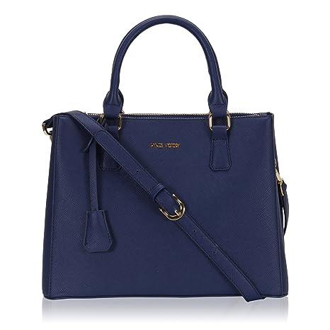 10705ca5df5b Veevan Fashion Handbags for Women Elegant Tote Shoudler Bags Blue   Amazon.co.uk  Luggage