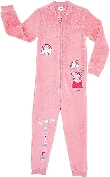 Peppa Pig Pijama Niña Entera con diseño de Peppa y Unicornio, Mono ...