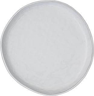creative co op da7006 antique white irregular shaped terracotta plate with lip
