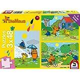 Schmidt Spiele Mouse TV Puzzle 56213, gelb, Viel Spaß mit der Maus, 3x48 Teile
