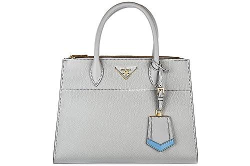 27d6efaf0538 Prada Saffiano Greca Medium Double-Zip Galleria Tote Bag Grey: Amazon.ca:  Shoes & Handbags