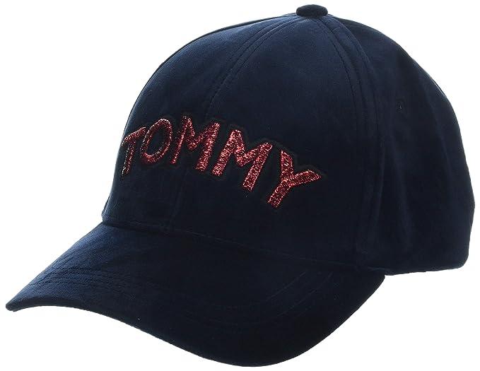 fa1729c1 Tommy Hilfiger Women's Tommy Patch Cap Velvet Baseball, Blue Navy 413, One  (Size
