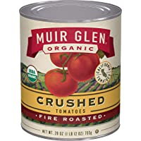 12-Packs Muir Glen Organic Crushed Fire Roasted 28 Ounce Canned Tomatoes
