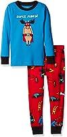 Little Blue House by Hatley Boys' Long Sleeve Appliqué Pajama Set