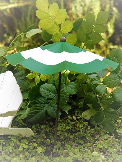 Amazon.com: Accesorios en miniatura verde y blanco a rayas ...