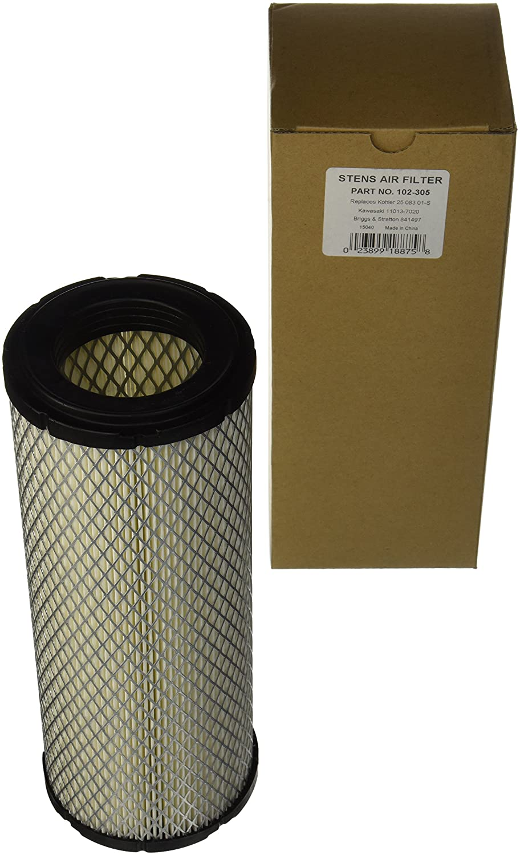 Stens 102-305 Air Filter Replaces Kohler 25 083 01-S Kawasaki 11013-7020 Briggs & Stratton 841497 John Deere M144100 Exmark 103-1327 Bobcat 4114746 Toro 108-3810