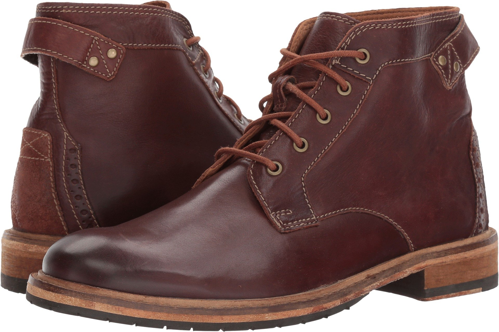 Clarks Mens Clarkdale Bud Mahogany Leather Boot - 11.5