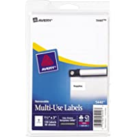 Avery Removable Print or Write Labels, 1.5 x 3 Inches, White, Pack of 150 (5440)