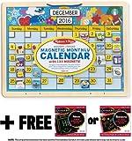 Magnetic Monthly Calendar + FREE Melissa & Doug Scratch Art Mini-Pad Bundle [50586]