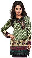 Indian Tunic Top Womens Kurti Printed Blouse India Clothes