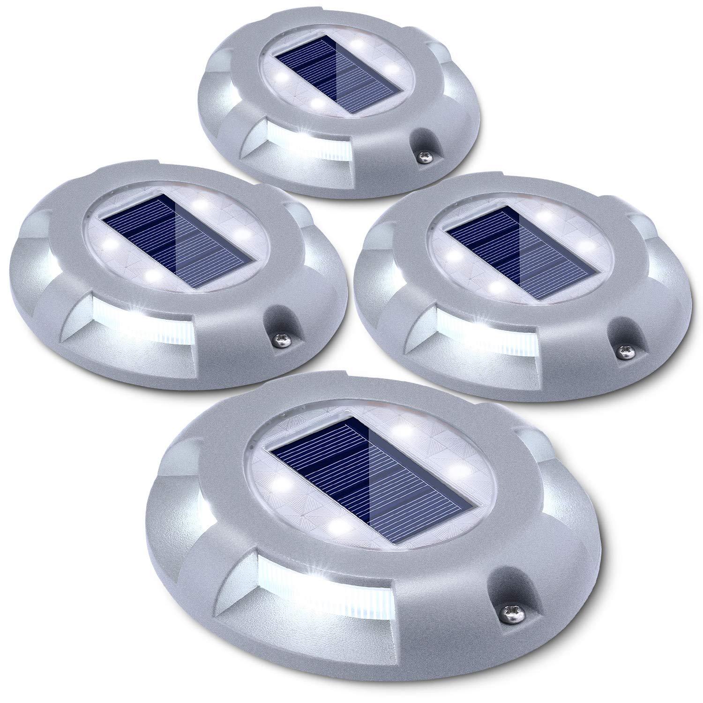 terrasse jardin techonor bassin /Éclairage de paysage pour pelouse /Énergie solaire IP67 Lampes de sol /étanches LED all/ée Lot de 4 lampes solaires dext/érieur