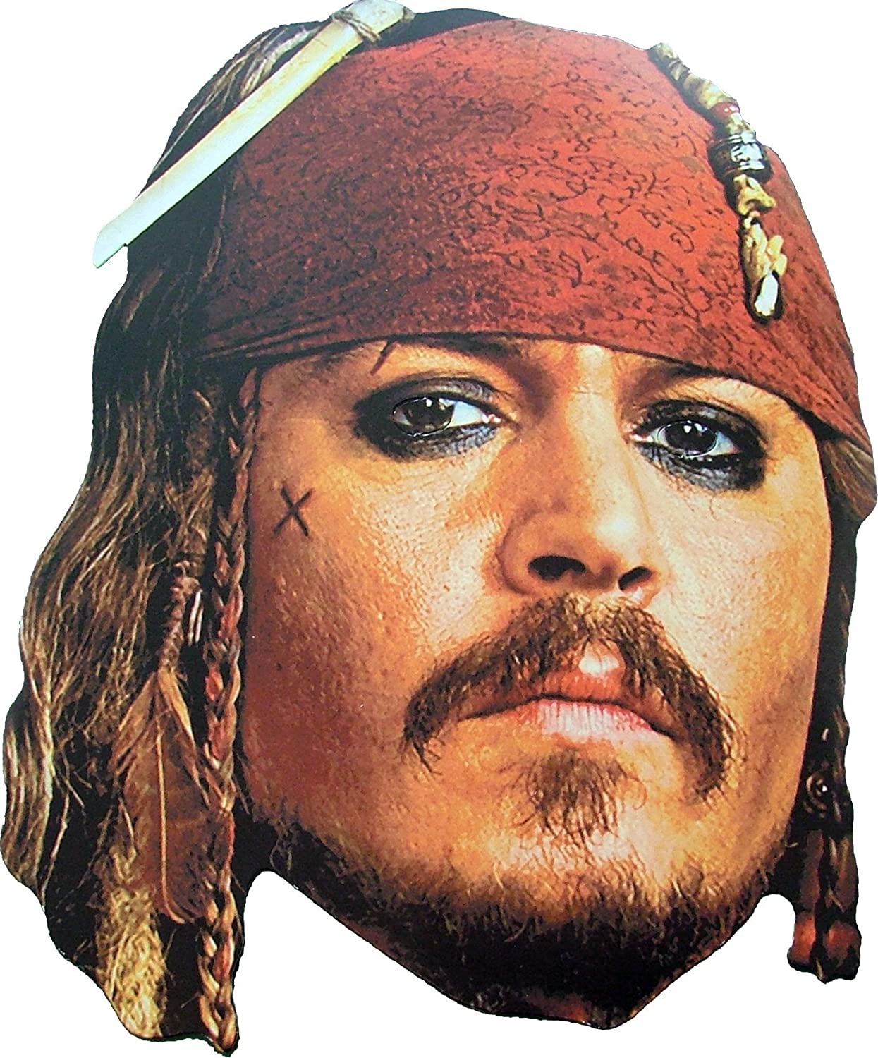 Face Jack Card esJuguetes Captain Sparrow MaskAmazon g6Y7Ifybv