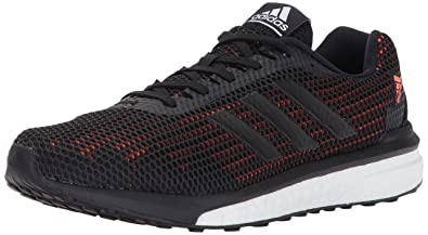 adidas Originals Men's Vengeful m Running Shoe, Black/Black/Solar Orange, 10