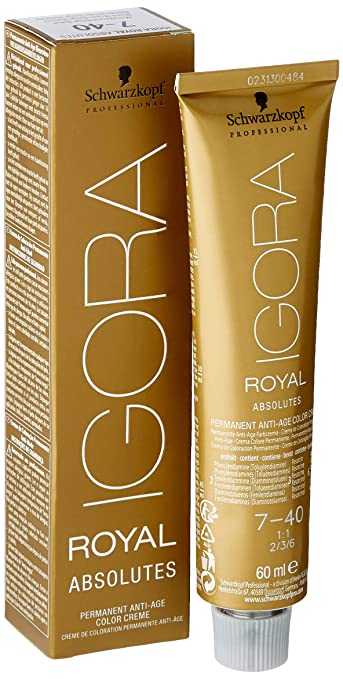 Schwarzkopf Igora Royal Coloración Permanente en Crema para el Cabello 7-40 - 60 ml.