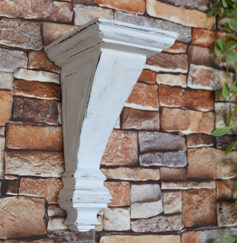 10 Inch Doric Oak Stain CinMin Art Deco Corbel Wood Wall Bracket