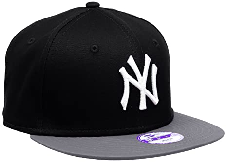 ff1de6131a6755 New Era Boy's Kids MLB Cotton Block NY Yankees 9Fifty Cap, Black (Black/