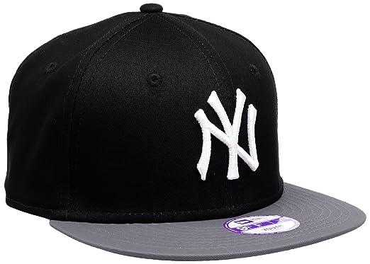 e71e38f8 New Era Boy's Kids MLB Cotton Block NY Yankees 9Fifty Cap, Black (Black/