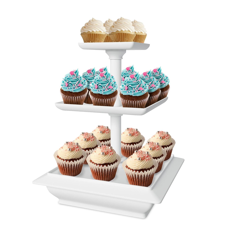 Amazon Chef Buddy 3 Tier Cupcake Dessert Stand White Kitchen