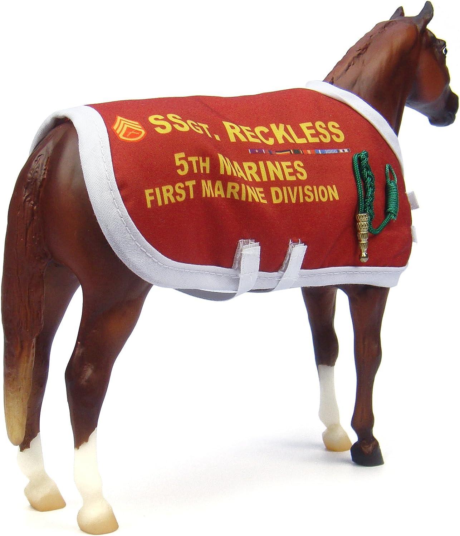 Breyer Traditional 1493 Sergeant Reckless Decorated Korean War Horse Re-release
