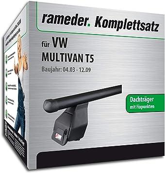 Rameder Komplettsatz Dachträger Tema Für Vw Multivan T5 118906 04988 4 Auto