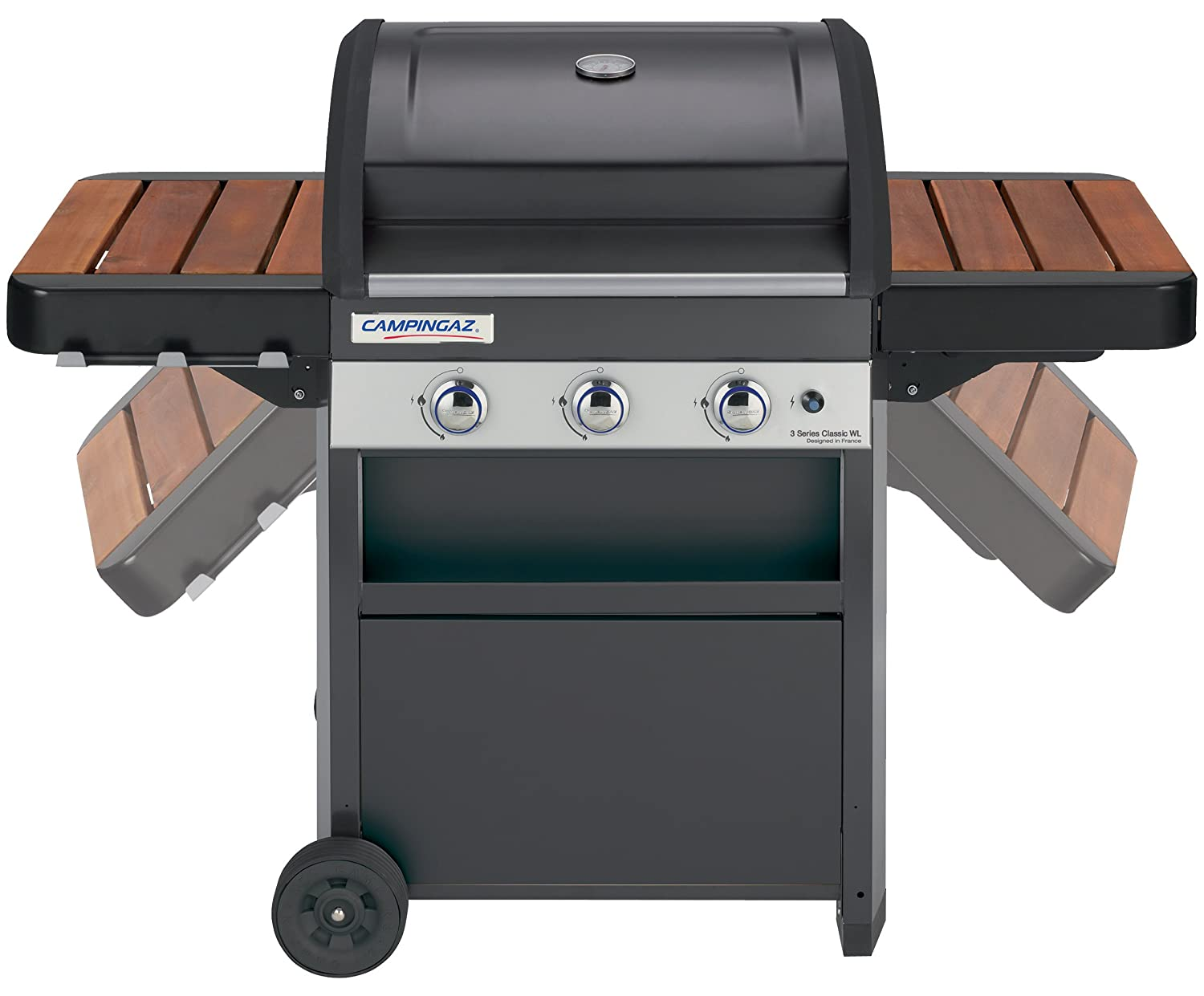 Campingaz Gas BBQ 3 Series Woody LX - 3 quemadores de gas de acero inoxidable: Amazon.es: Jardín