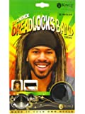 King.J Unisex Spandex Dreadlocks Band (Black)