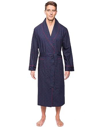 c15ff5c297 Noble Mount Men s Cotton Robe - Diamond Checks Black Red - S M at Amazon  Men s Clothing store
