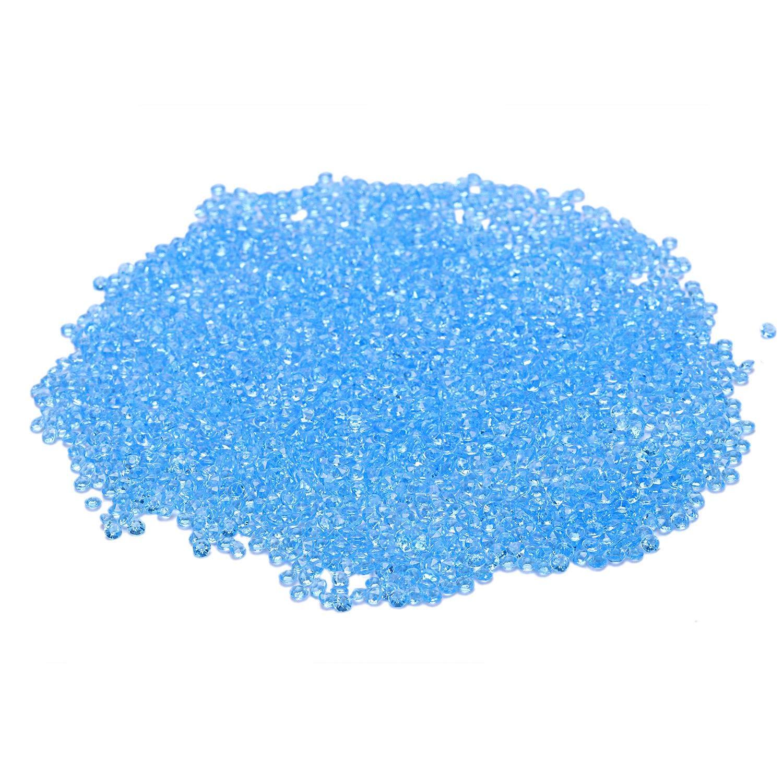 Bleu Clair XZANTE 2000 X M Cristal Diamant Confetti Decor Ceremonie Mariage Disperser Acrylique