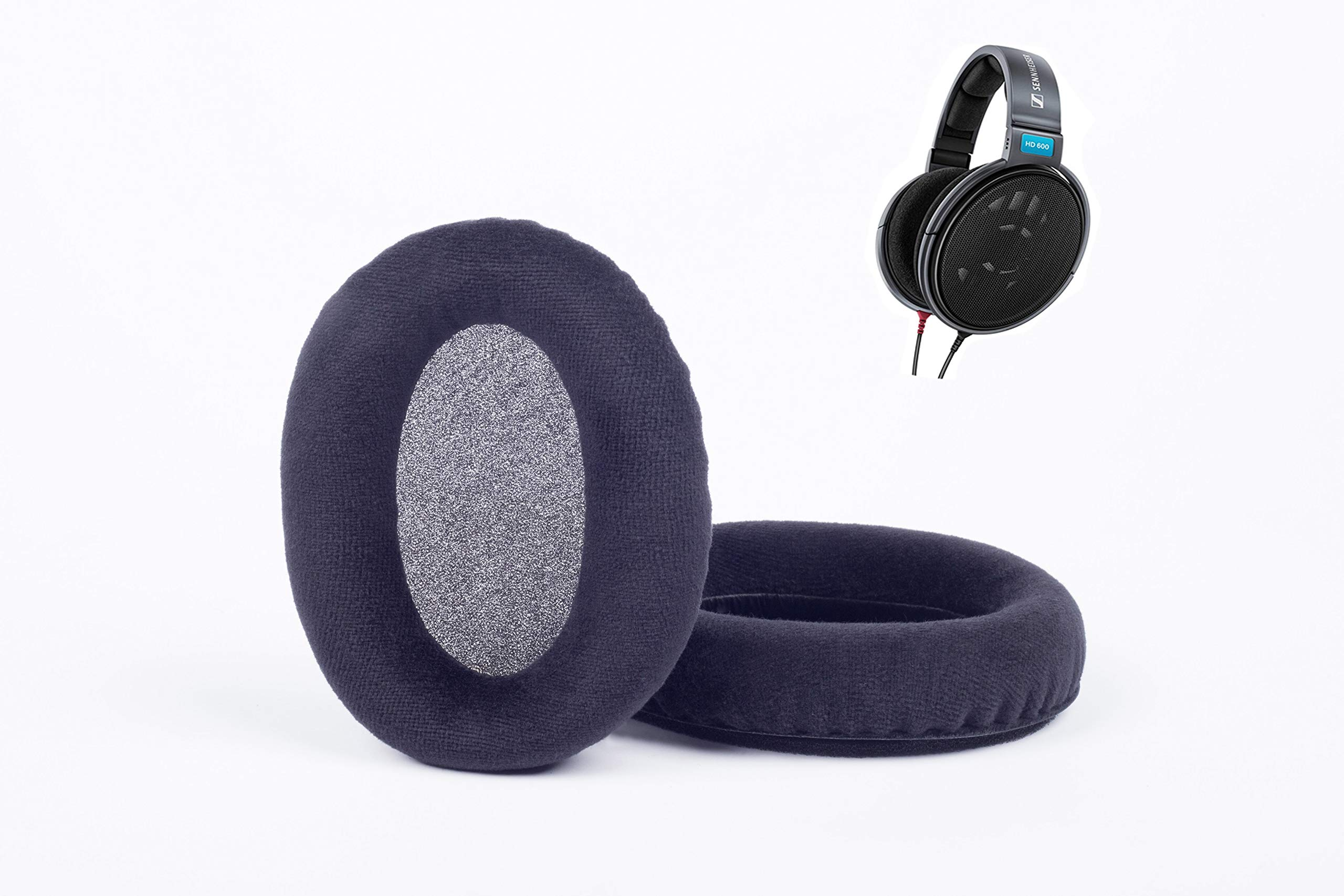 Magic Cushion Headphones replacment Ear Pads for sennheiser HD600,Compatible with HD650 / HD580 / HD565 / HD545 (Velour Black)