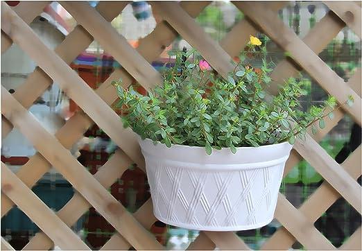 Sr. Jardín resina plástico maceta jardín Vertical macetero de pared, 12 x 6, 9 x 8.6inch, luz gris, 2 unidades: Amazon.es: Jardín