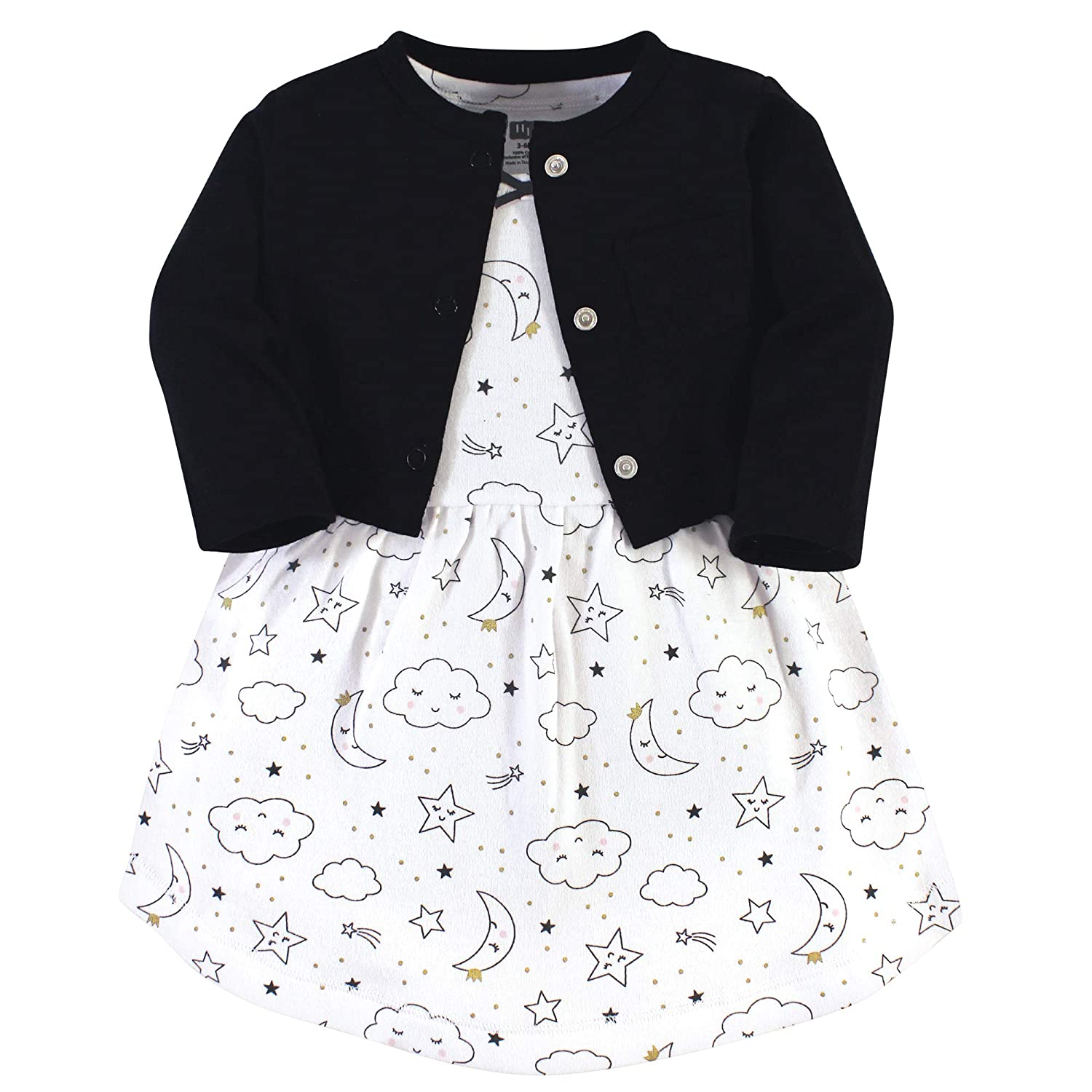 Hudson Baby Baby Girls Cotton Cardigan and Dress Casual