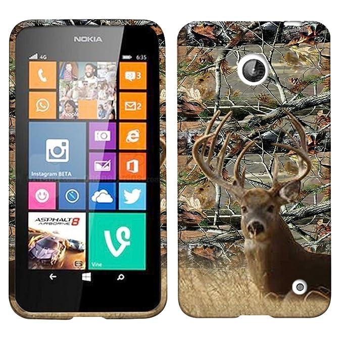 Para Nokia Lumia 635/630 blanco de camuflaje cola ciervos ...