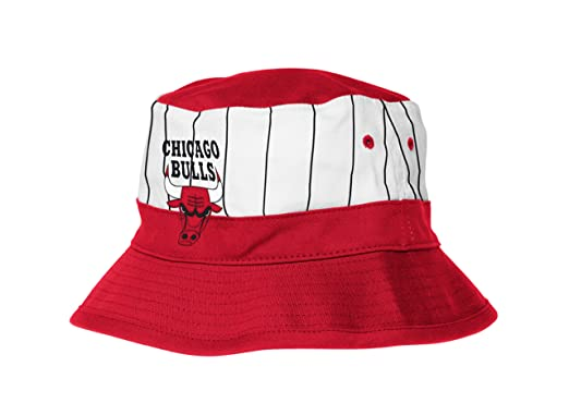 Gorra de rayas para hombre de Chicago Bulls, color rojo y blanco ...
