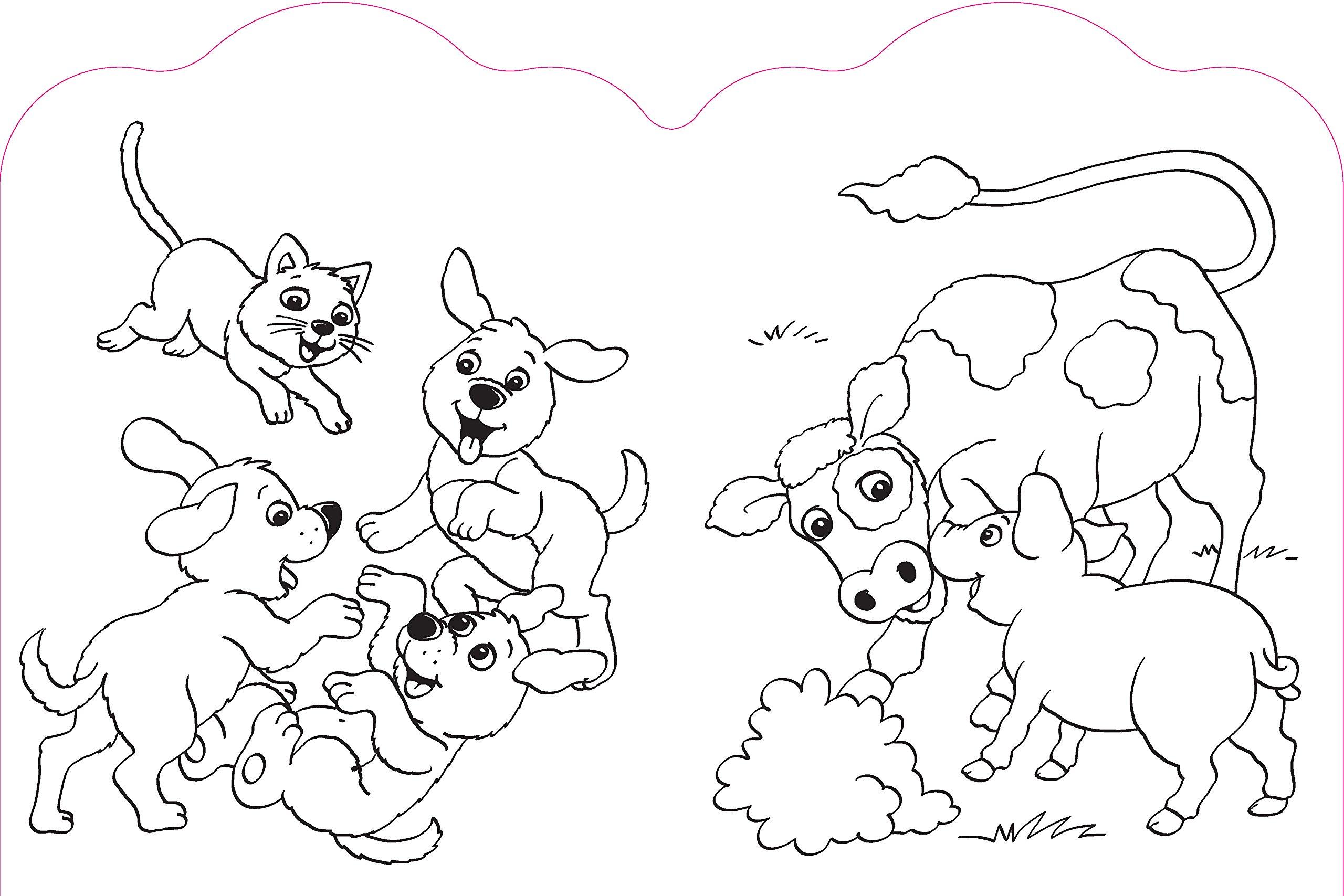 Glitzersticker Malbuch Tierkinder Hase Malbuch Mit Vielen