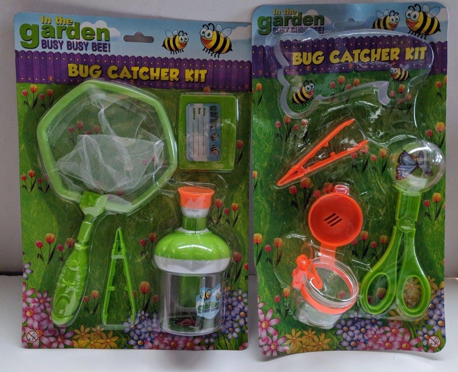 2 x Bug Butterfly Catcher Net & Bug Explorer Kit Magnifier & Bug Case Childrens nature Set unbranded
