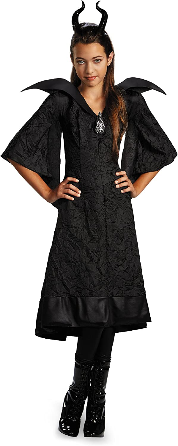 UK Adult Plus Size Maleficent Christening Gown Wicked Witch Queen Costume Outfit