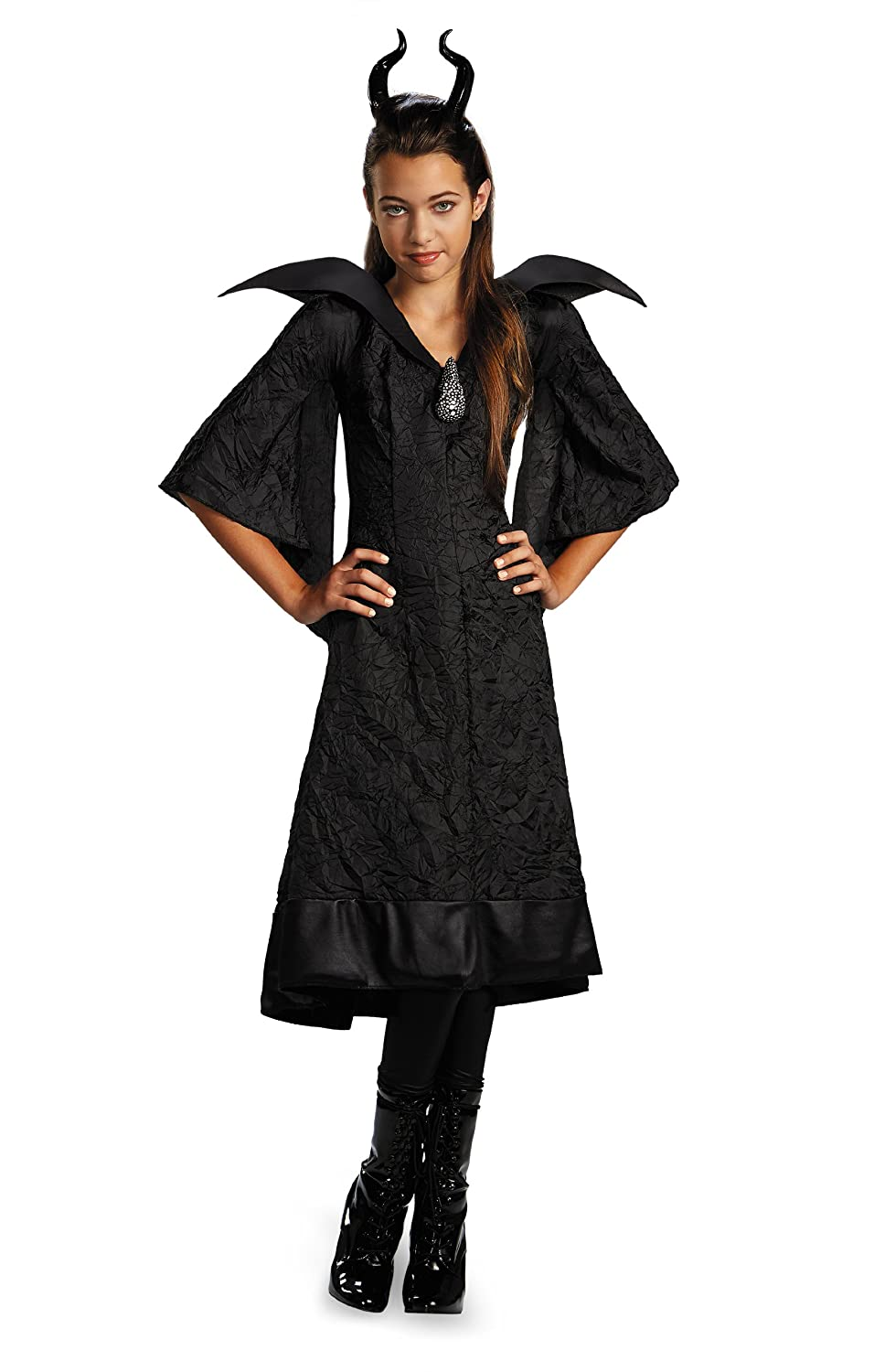 Disguise Disney Maleficent Movie Christening Black Gown Girls Classic Costume Large//10-12