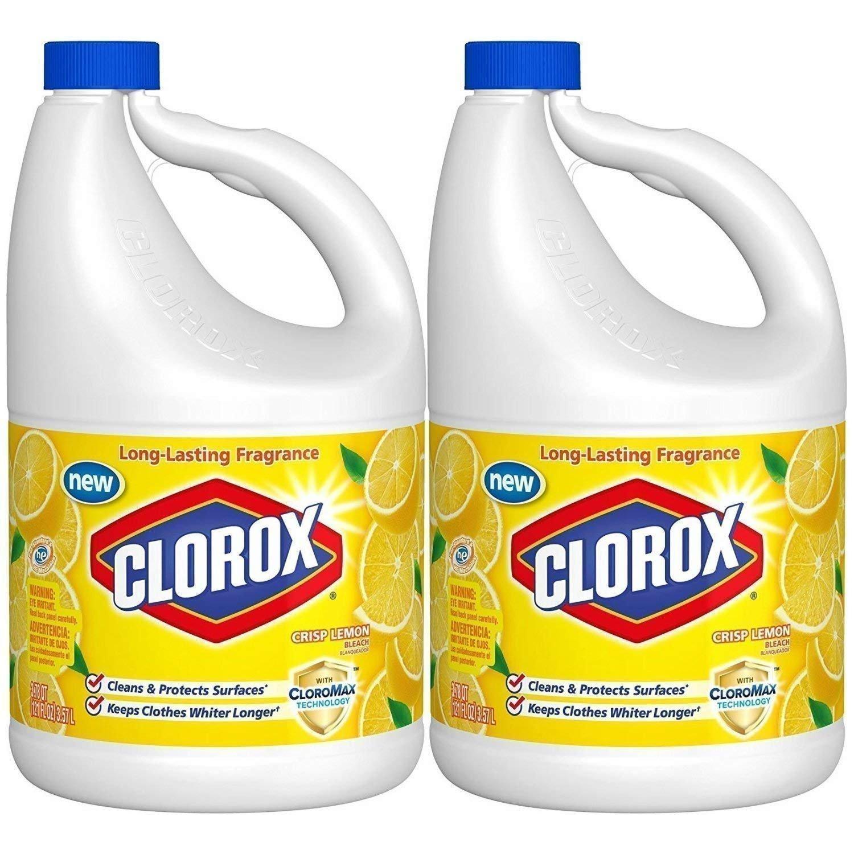 Clorox Bleach, Crisp Lemon Scent, 121 Ounces (Pack of 2)