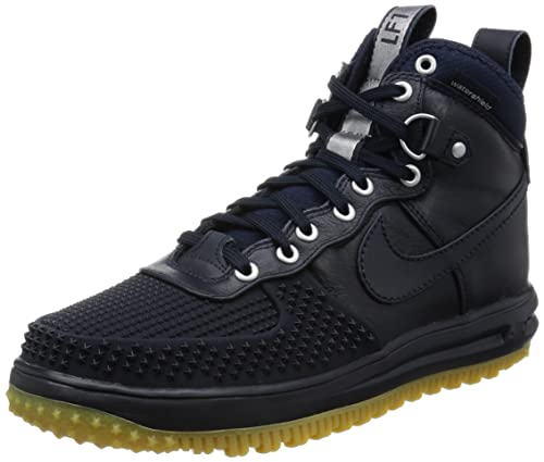 Nike Men's Lunar Force 1 Duckboot Dark ObsidianDark Obsidian Boot 9 Men US